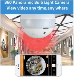 SingCam Wifi Smart Panoramic Bulb Camera V380S