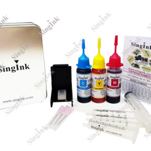 For HP Black Refill Kit Set (Bottle) | Singink